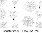 halloween spiderweb border with ... | Shutterstock .eps vector #1459855898