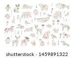 skandinavian folk animals hand... | Shutterstock .eps vector #1459891322