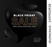 black friday sale banner or... | Shutterstock .eps vector #1459903928