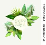 stylized tropical leaves.... | Shutterstock .eps vector #1459906088