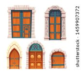 Doors Set  Wooden And Stone...