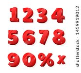 red numbers for discounted... | Shutterstock .eps vector #1459919012