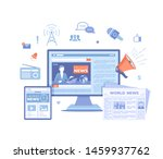 news update  online news.... | Shutterstock .eps vector #1459937762