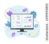 data analysis design concept.... | Shutterstock .eps vector #1459945892