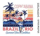 copacabana beach  brazil poster ... | Shutterstock .eps vector #1459947305