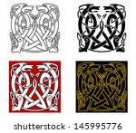ancient celtic ornament with... | Shutterstock .eps vector #145995776