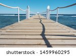 Travel. Pier On The Sea.