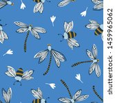cute vector seamless pattern... | Shutterstock .eps vector #1459965062