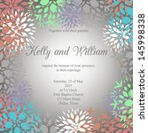 wedding invitation card | Shutterstock .eps vector #145998338