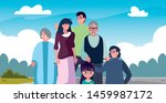 family members together  in the ... | Shutterstock .eps vector #1459987172