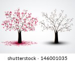 Background With Two Trees  One...