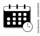 calendar and clock flat vector...