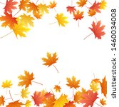 maple leaves vector background  ... | Shutterstock .eps vector #1460034008