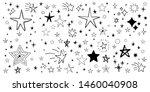 set of hand drawn stars. doodle ...   Shutterstock .eps vector #1460040908