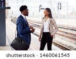 businessman and businesswoman... | Shutterstock . vector #1460061545