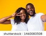 Cheerful Black Man And Woman...