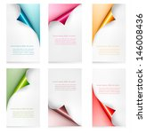 collection of colorful paper... | Shutterstock .eps vector #146008436