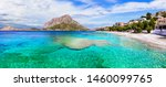 Amazing Greece  - Kalymnos island, Dodecanese. beautiful Mirties beach and Tolendos small island