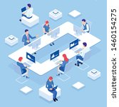 isometric concept of business... | Shutterstock .eps vector #1460154275