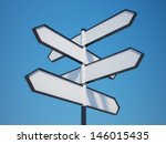 Blank Signpost With Clipping...