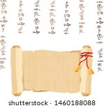 ancient egypt papyrus scroll...