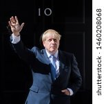 Small photo of London UK. 24th July 2019. Boris Johnson, U.K. prime minister, delivers a speech outside 10 Downing Street. The Prime Minister Boris Johnson, promise to take Britain out of the European Union by 31st