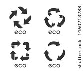 eco labels glyph icons set.... | Shutterstock .eps vector #1460213288