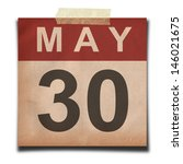 Grunge Calendar For May  On...