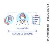 survey caller concept icon....   Shutterstock .eps vector #1460235785