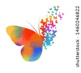 abstract butterfly multicolored ... | Shutterstock .eps vector #1460246822