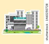 hospital building in stickers... | Shutterstock .eps vector #1460250728