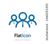 businessman icon isolated on... | Shutterstock .eps vector #1460251352