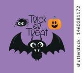 trick or treat halloween text ... | Shutterstock .eps vector #1460281172