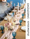 luxury dinner banquet in the... | Shutterstock . vector #1460292545
