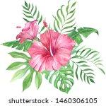 set of watercolor hand painted... | Shutterstock . vector #1460306105