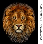 lion. color  realistic ... | Shutterstock .eps vector #1460316092