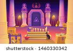 egypt pharaoh tomb with a...   Shutterstock .eps vector #1460330342