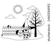 cat and dog cartoon design... | Shutterstock .eps vector #1460334092