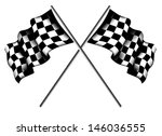 checkered flags | Shutterstock .eps vector #146036555