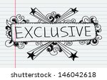 doodle banners for sale in e... | Shutterstock .eps vector #146042618