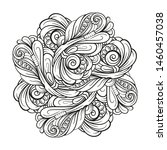 vector abstract black and white ...   Shutterstock .eps vector #1460457038