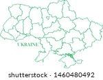 ukraine green line map vector | Shutterstock .eps vector #1460480492