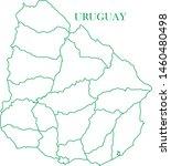 uruguay green line map vector | Shutterstock .eps vector #1460480498