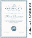 certificate. template diploma... | Shutterstock .eps vector #1460482568