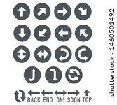 arrow types app icons set. ui...