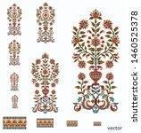 mughal  flower  motif  bunch  ... | Shutterstock .eps vector #1460525378