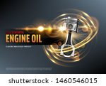 car motor oil or auto engine... | Shutterstock .eps vector #1460546015