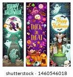 happy halloween holiday... | Shutterstock .eps vector #1460546018