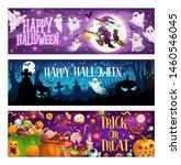 happy halloween  trick or treat ... | Shutterstock .eps vector #1460546045