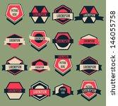 vintage logo vector set | Shutterstock .eps vector #146055758